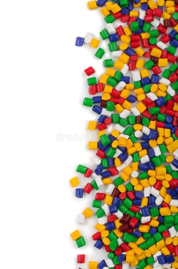 Polymerpartiklar arkivfoton