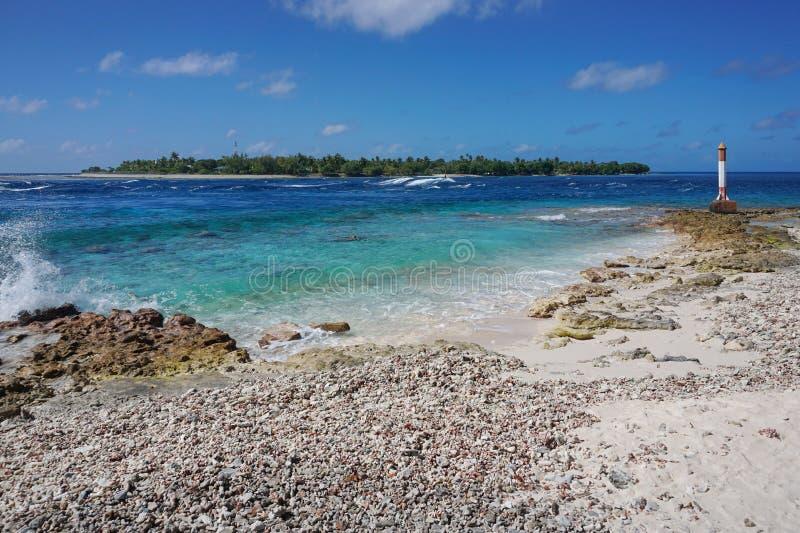 Polynésie française de Rangiroa Tuamotu de passage de Tiputa photo libre de droits