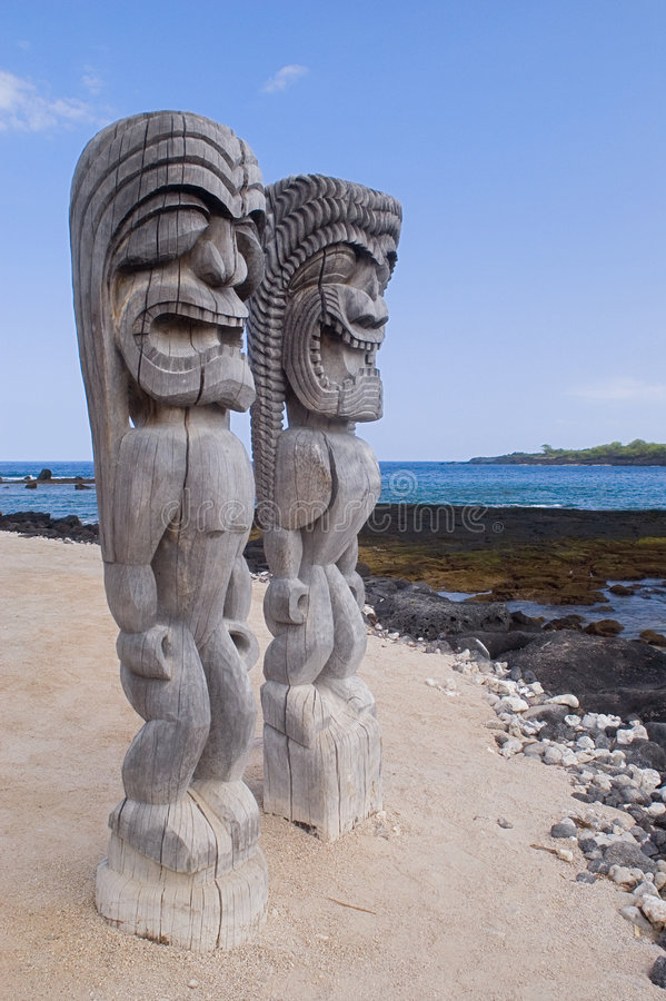 Polynesia idols. Hawaii stock image