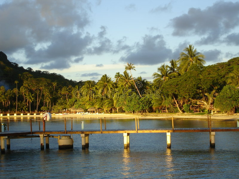 Polynesia Overwater stock afbeeldingen