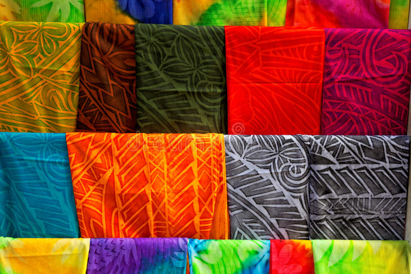 Polynesian fabric stock photo