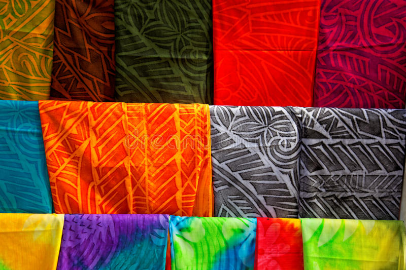 Polynesian fabric stock image