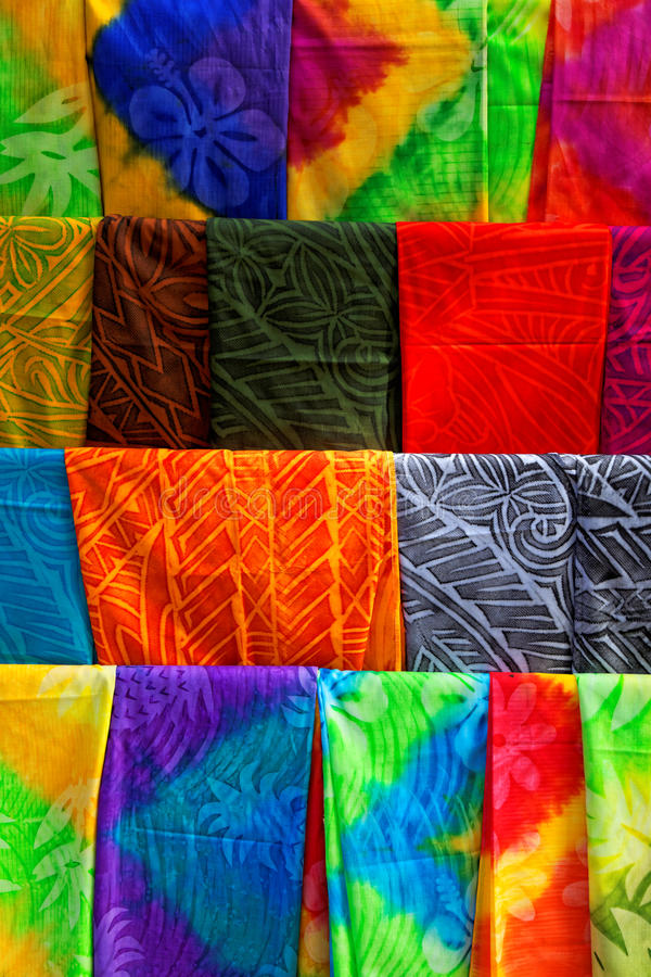 Polynesian fabric royalty free stock image