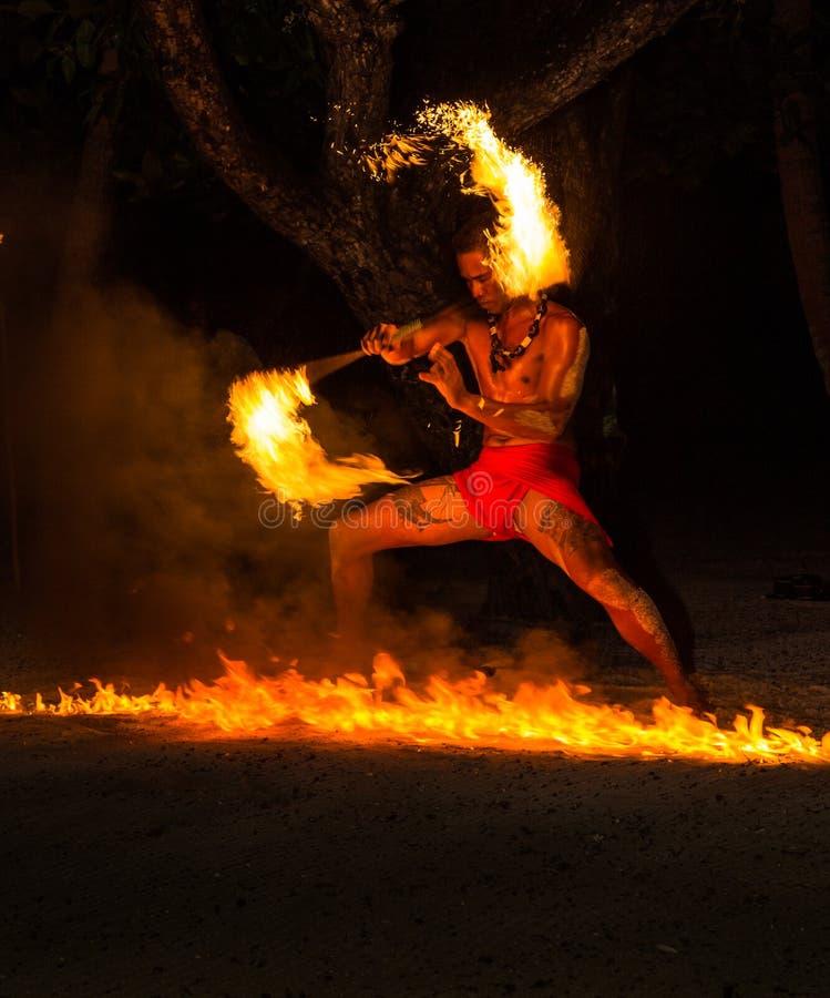 Free Polynesian Fire Dancer Stock Photo - 43762780