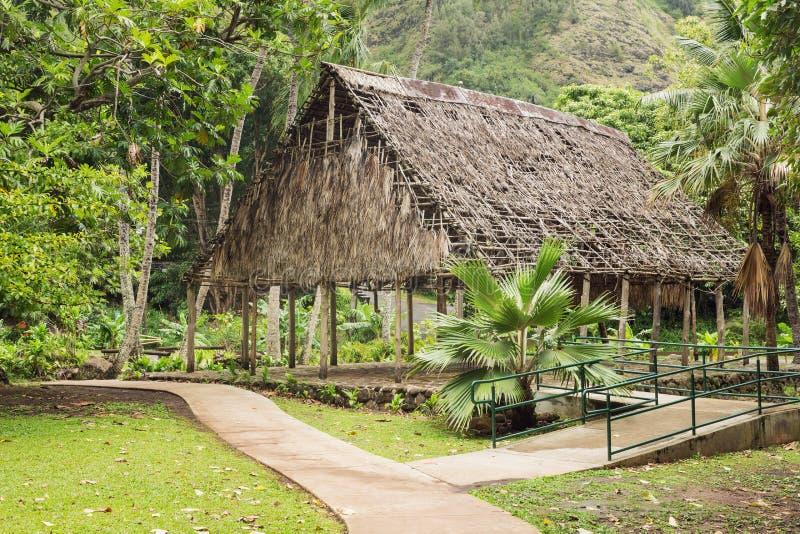 Polynesian hus arkivbild