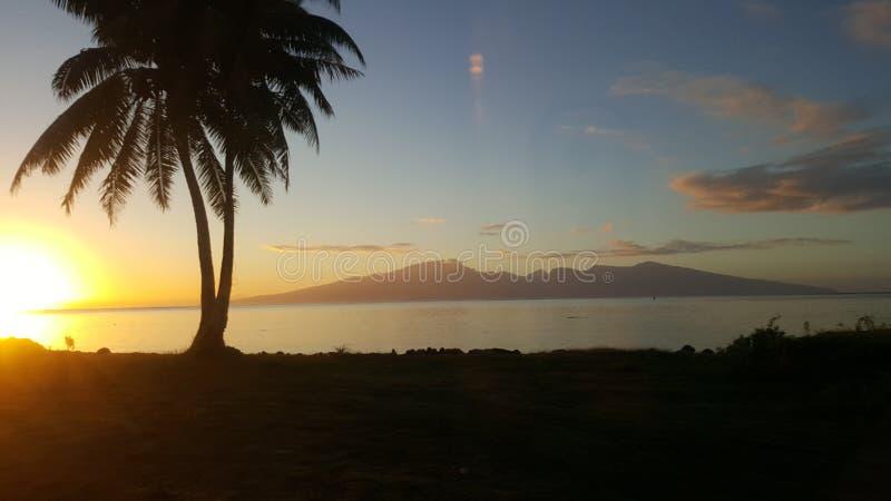 Polynesian soluppgång royaltyfria foton