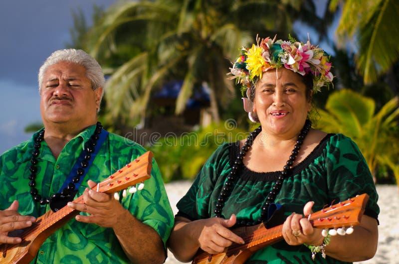 Polynesian Tahitian för Stillahavs- ö musik royaltyfri bild