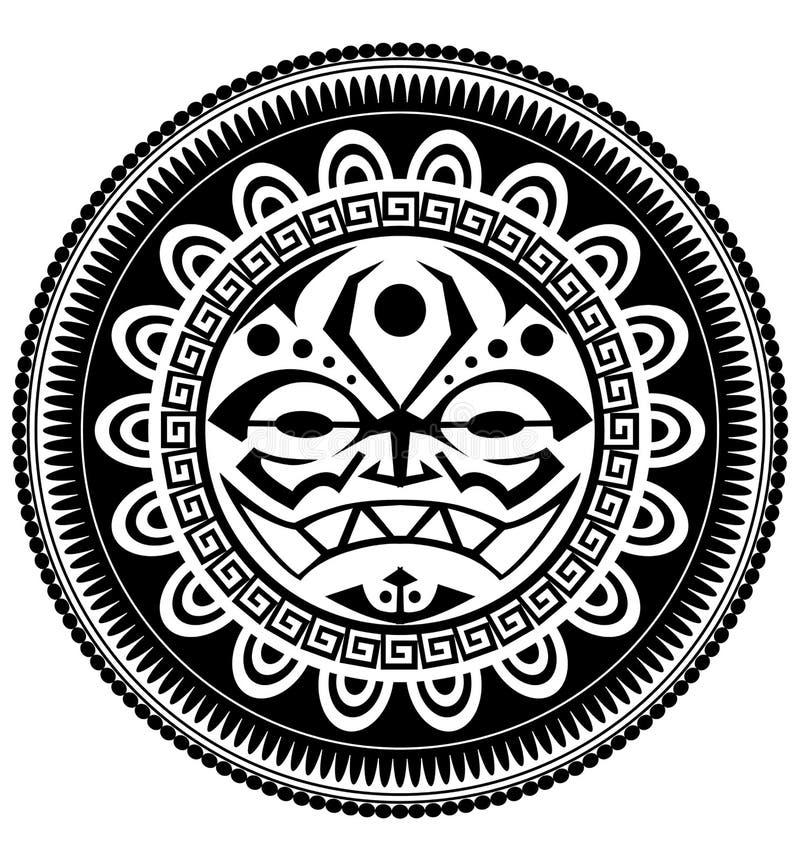 polynesian tatuering stock illustrationer