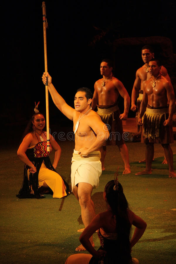 Polynesian Warrior Editorial Stock Image