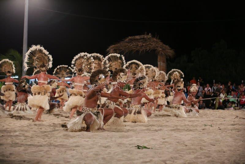 Polynesische Dansers - 2013 Heiva in Bora Bora royalty-vrije stock foto