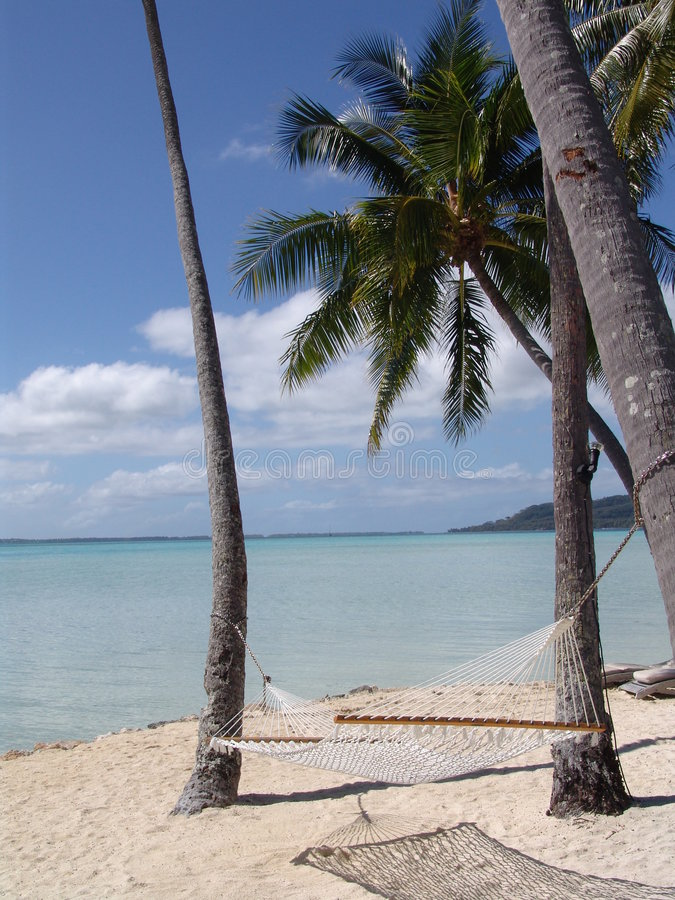 Polynesische rust royalty-vrije stock foto