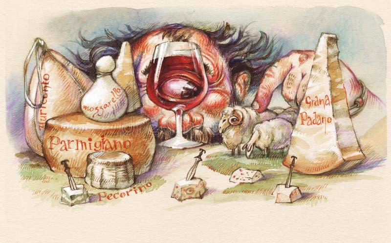 Download Polyphemus y queso stock de ilustración. Ilustración de humor - 7150671