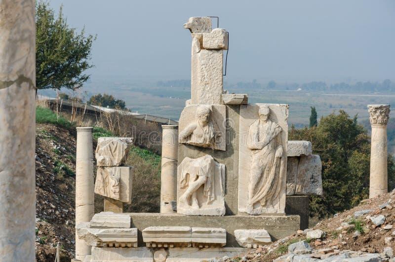 Polyphemusstandbeelden van de Pollio-Fontein van Ephesus royalty-vrije stock fotografie