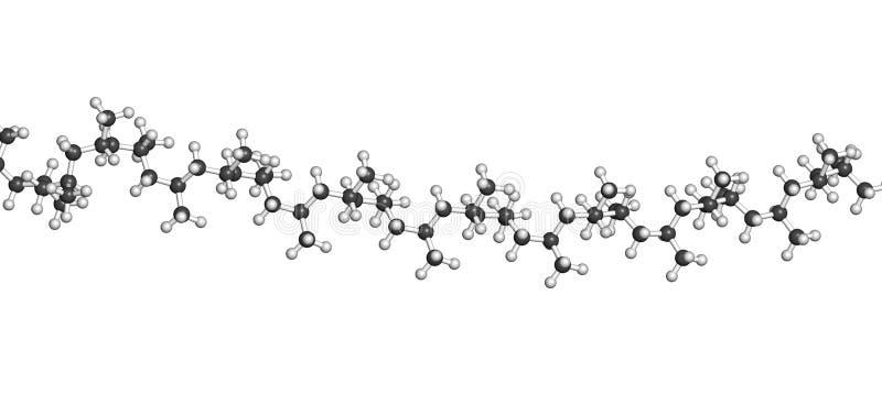 Polypropyleen (polypropene, pp) plastic, chemische structuur - Li vector illustratie