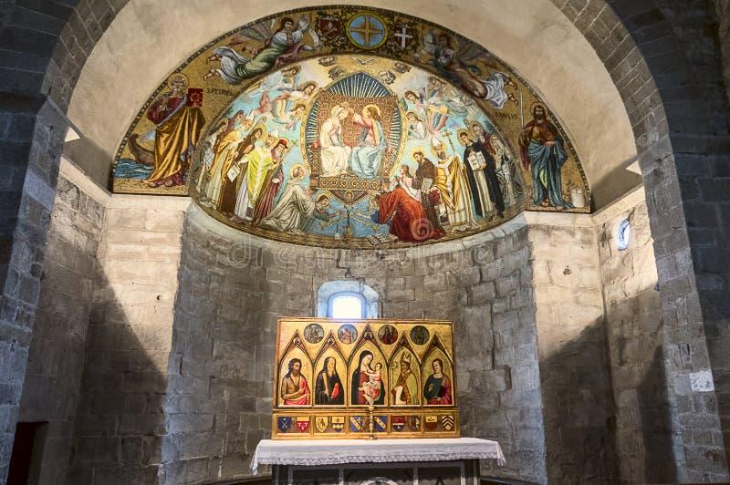 Abbey of San Godenzo, Florence, Italy stock photos