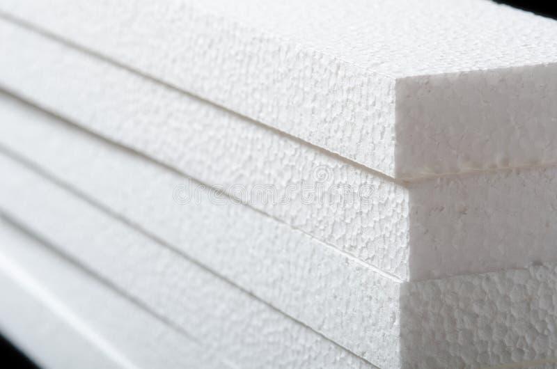 Polystyrene. Closeup of a white polystyrene