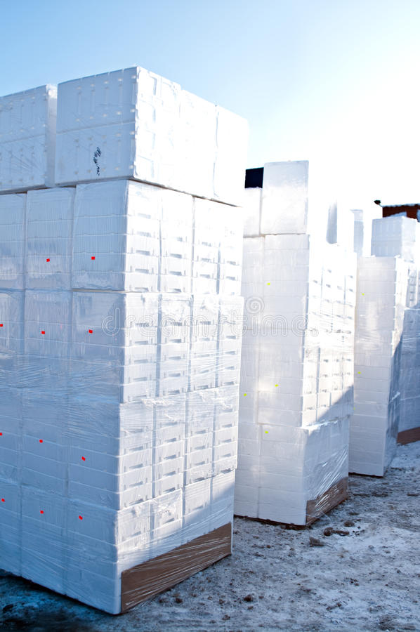 Download Polystyrene boxes stock photo. Image of winter, background - 12573276
