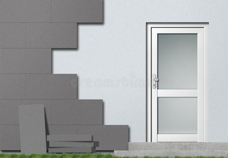 Polystyrene facade insulation