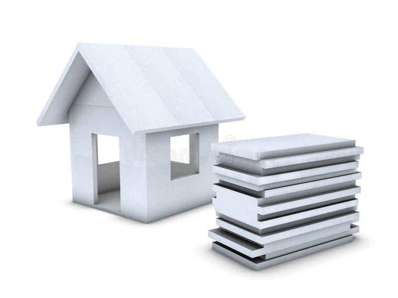 Download Polystyrene house stock illustration. Illustration of concept - 12386781