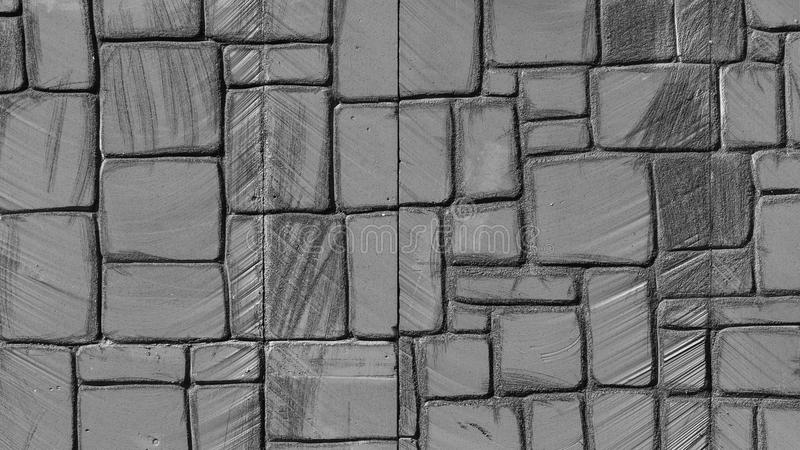 Polystyrene Wall. Polystyrene fortress wall details in black and white color royalty free stock photos