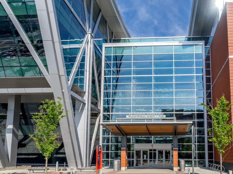 Polytechnische Schulgebäudee SAIT lizenzfreie stockfotografie