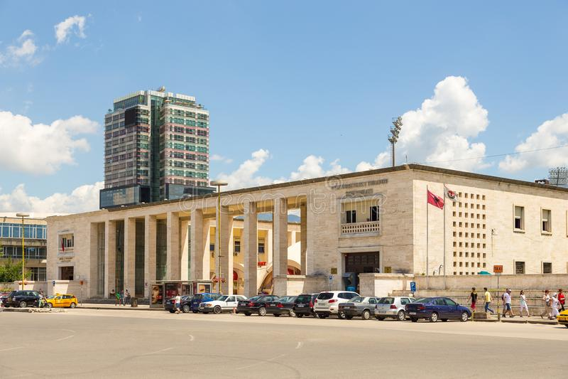 Polytechnische Universiteit van Tirana, openbare universiteit, Albanië royalty-vrije stock fotografie