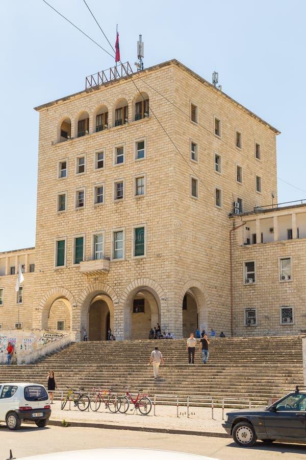 Polytechnische Universiteit van Tirana, openbare universiteit, Albanië royalty-vrije stock foto