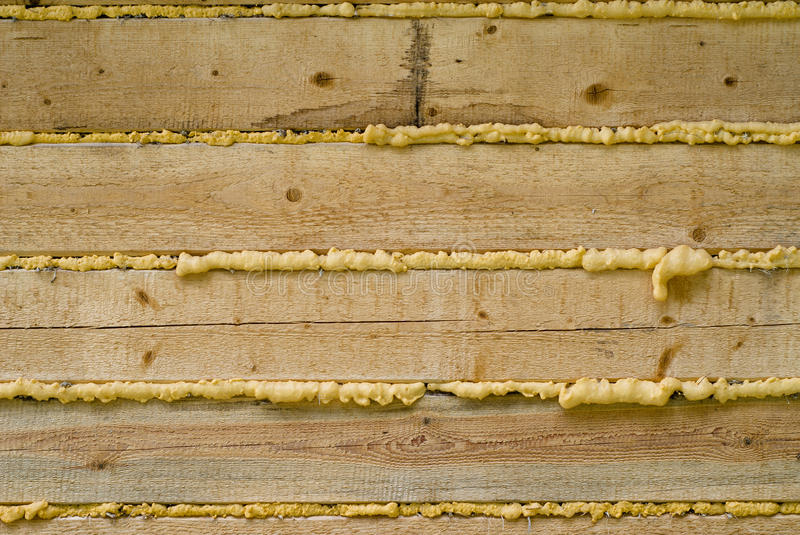 Polyurethane foam and wooden construction stock images