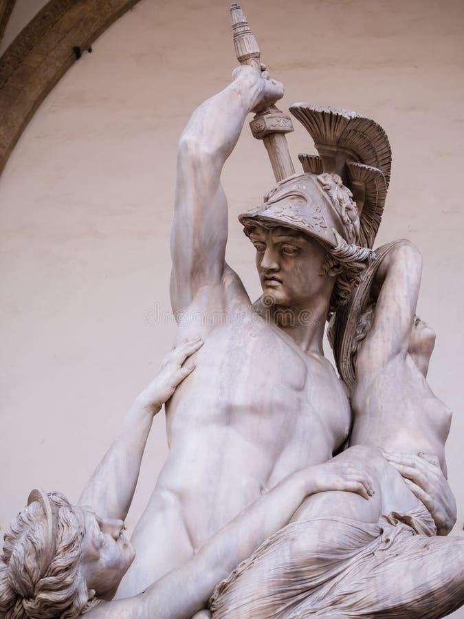 Polyxena强奸的雕塑  免版税库存照片