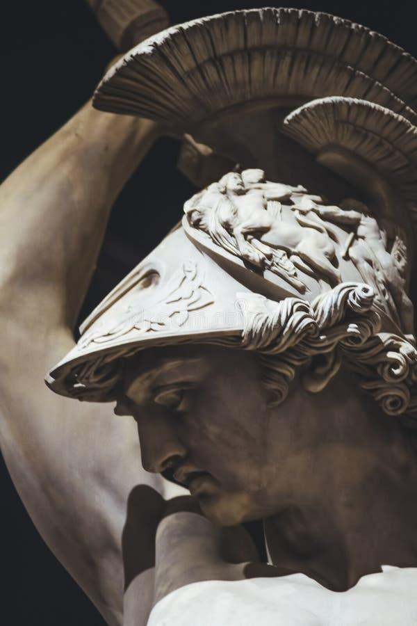 Polyxena雕塑广场della Signoria强奸的细节  佛罗伦萨 库存照片