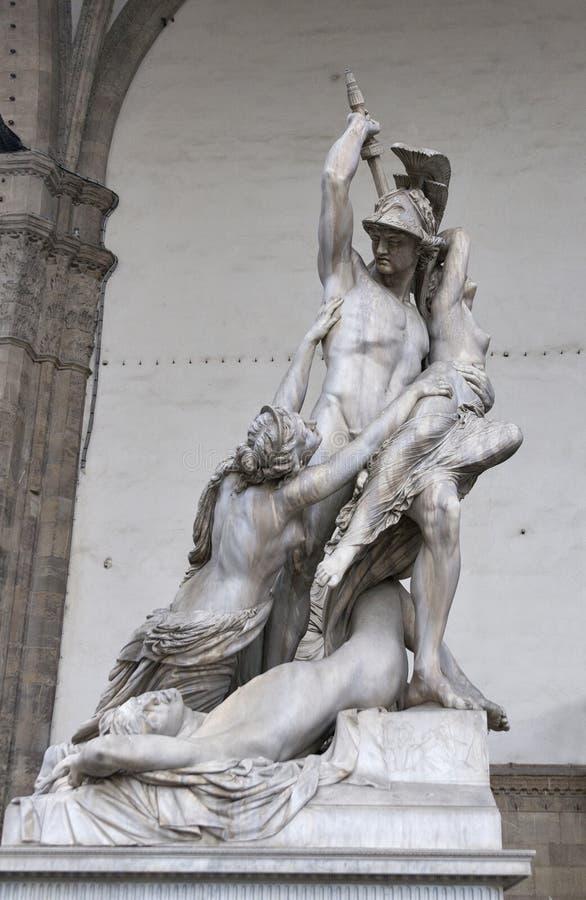 Polyxena雕塑强奸由Pio Fedi的在佛罗伦萨 图库摄影
