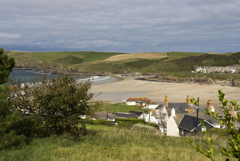 Polzeath - Cornwall, het UK stock fotografie