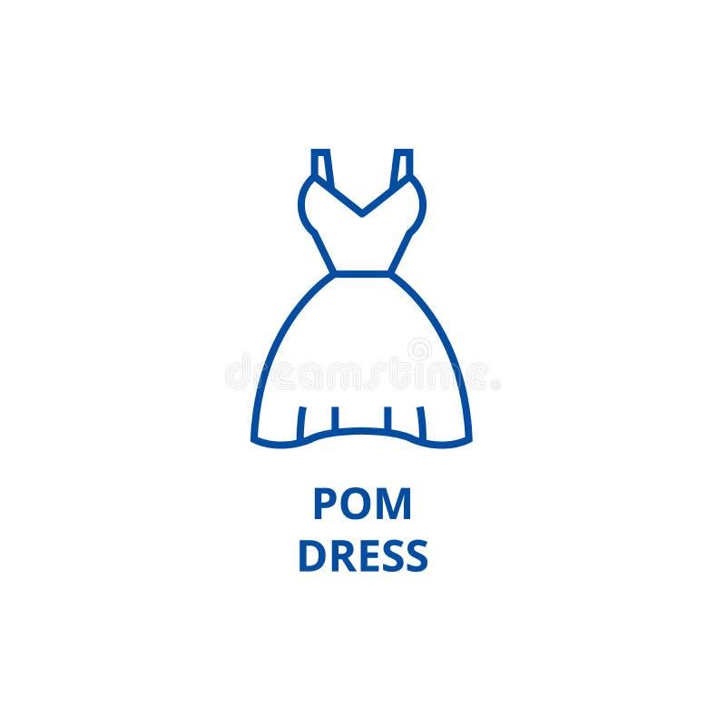Pom-Kleiderlinie Ikonenkonzept Pom-Kleiderflaches Vektorsymbol, Zeichen, Entwurfsillustration lizenzfreie abbildung