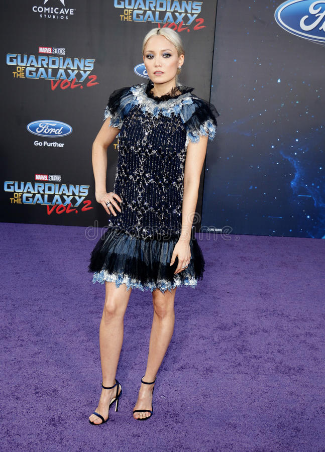 Pom Klementieff. At the Los Angeles premiere of `Guardians Of The Galaxy Vol. 2` held at the Dolby Theatre in Hollywood, USA on April 19, 2017 royalty free stock image