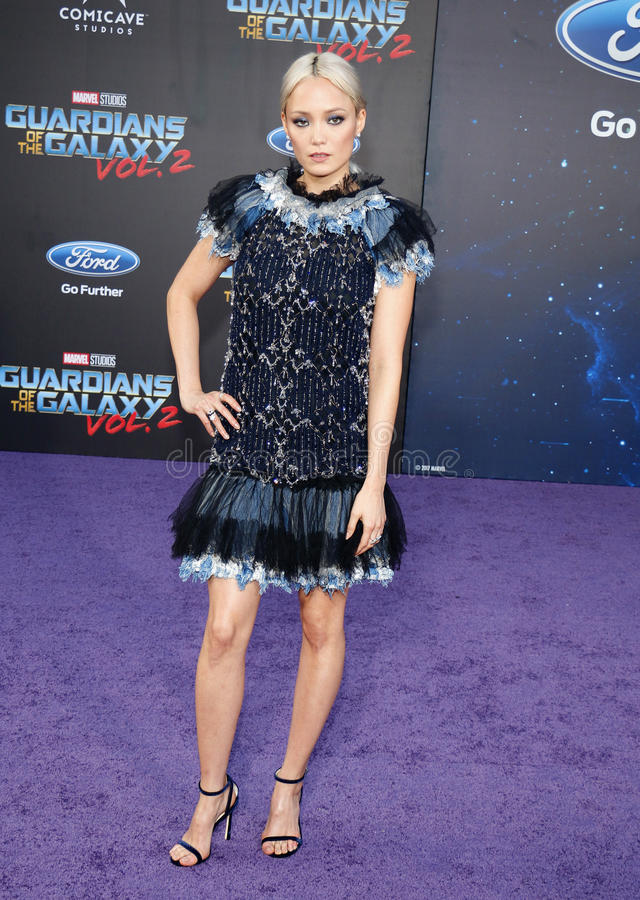 Pom Klementieff. At the Los Angeles premiere of `Guardians Of The Galaxy Vol. 2` held at the Dolby Theatre in Hollywood, USA on April 19, 2017 royalty free stock photography