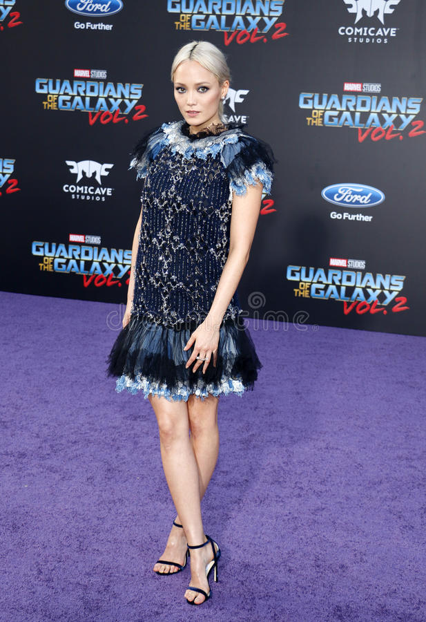 Pom Klementieff. At the Los Angeles premiere of `Guardians Of The Galaxy Vol. 2` held at the Dolby Theatre in Hollywood, USA on April 19, 2017 stock photography