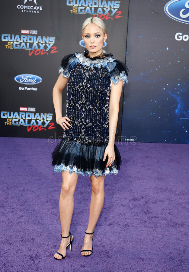 Pom Klementieff. At the Los Angeles premiere of `Guardians Of The Galaxy Vol. 2` held at the Dolby Theatre in Hollywood, USA on April 19, 2017 stock image