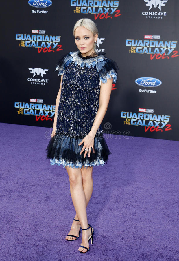 Pom Klementieff. At the Los Angeles premiere of `Guardians Of The Galaxy Vol. 2` held at the Dolby Theatre in Hollywood, USA on April 19, 2017 royalty free stock images