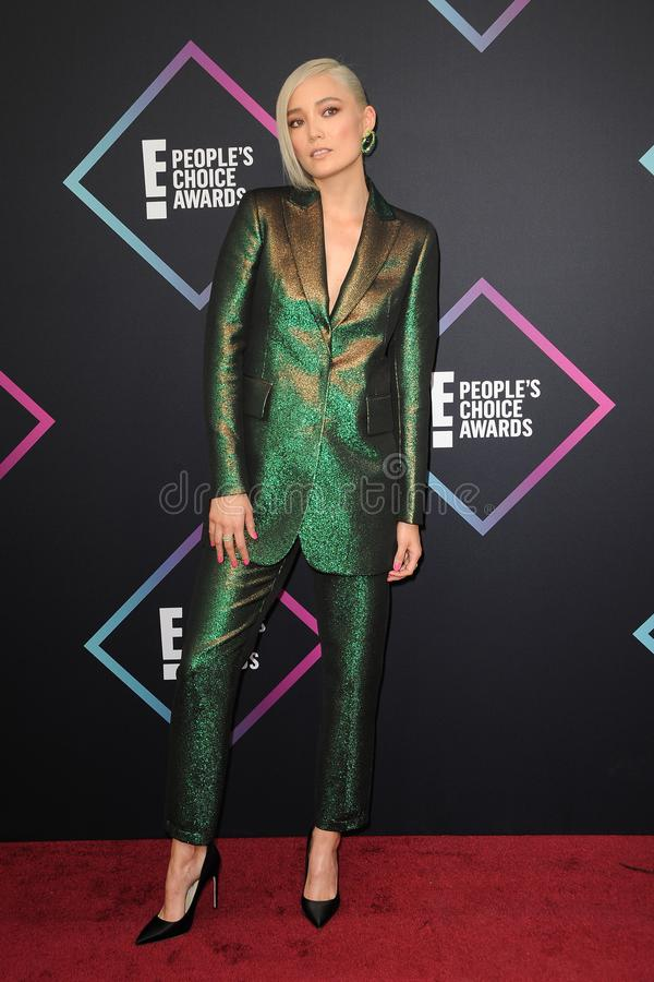 Pom Klementieff. At the 2018 People`s Choice Awards held at the Barker Hangar in Santa Monica, USA on November 11, 2018 royalty free stock image