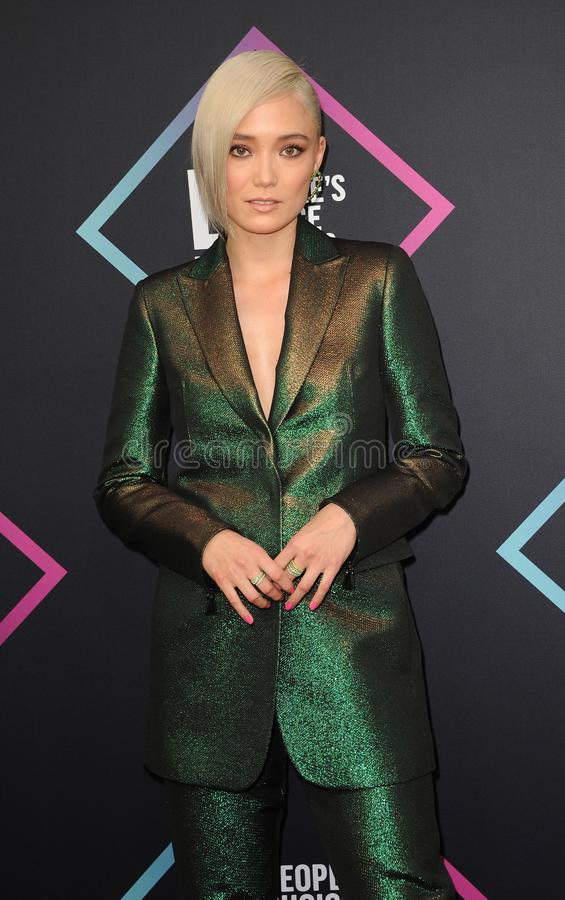 Pom Klementieff. At the 2018 People`s Choice Awards held at the Barker Hangar in Santa Monica, USA on November 11, 2018 royalty free stock photo