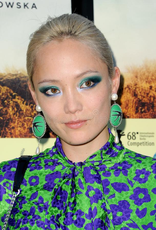Pom Klementieff. At the Los Angeles premiere of `Damsel` held at the Arclight Cinemas in Hollywood, USA on June 13, 2018 stock photos