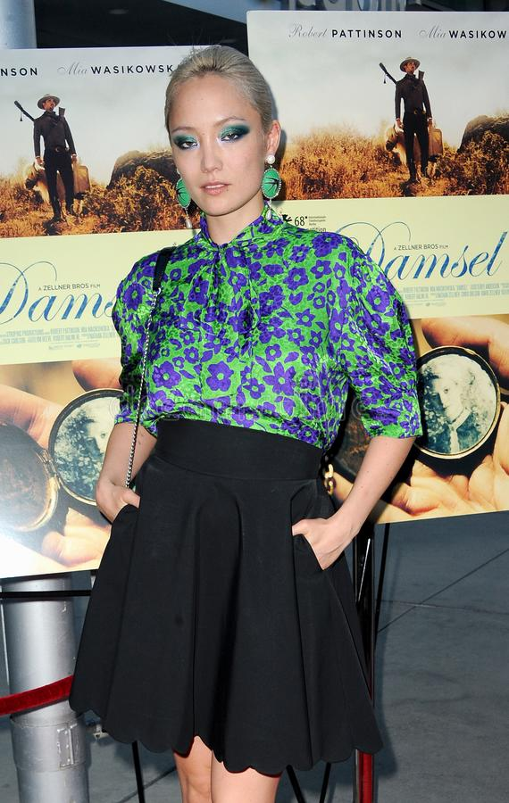 Pom Klementieff. At the Los Angeles premiere of `Damsel` held at the Arclight Cinemas in Hollywood, USA on June 13, 2018 royalty free stock photo
