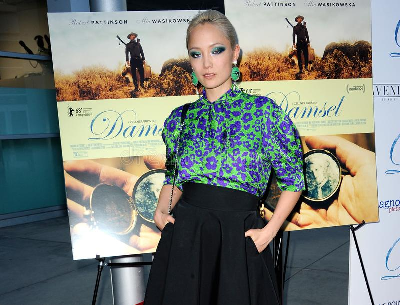 Pom Klementieff. At the Magnolia Pictures` premiere of `Damsel` held at the ArcLight Hollywood in Hollywood, USA on June 13, 2018 royalty free stock images
