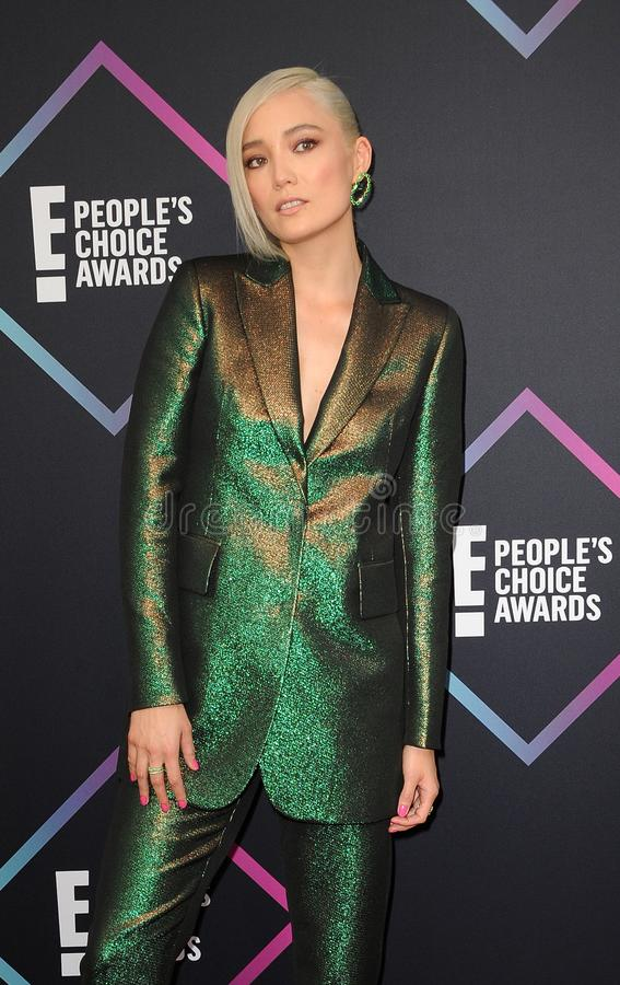 Pom Klementieff. At the 2018 People`s Choice Awards held at the Barker Hangar in Santa Monica, USA on November 11, 2018 royalty free stock images