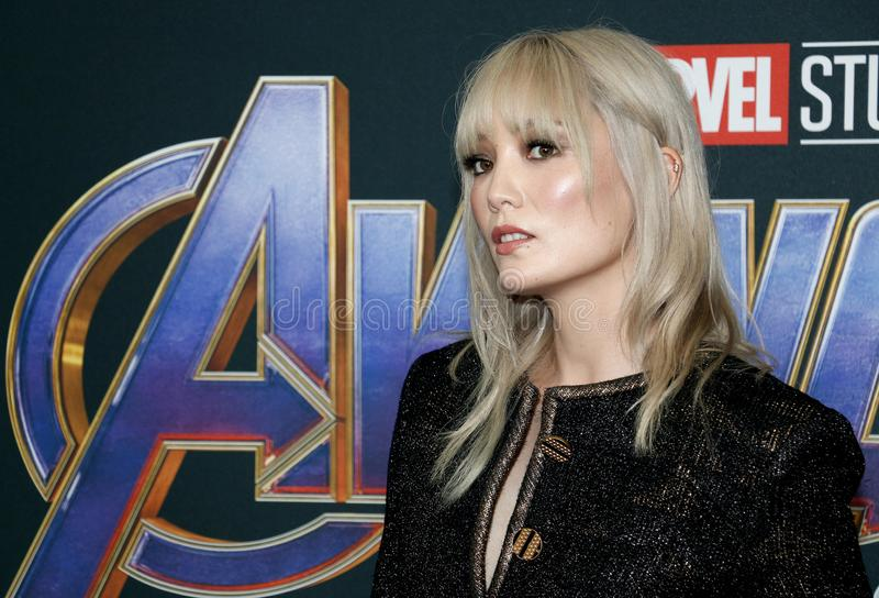 Pom Klementieff. At the World premiere of `Avengers: Endgame` held at the LA Convention Center in Los Angeles, USA on April 22, 2019 royalty free stock images