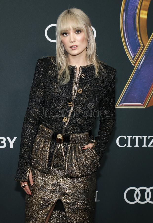 Pom Klementieff. At the World premiere of `Avengers: Endgame` held at the LA Convention Center in Los Angeles, USA on April 22, 2019 stock images