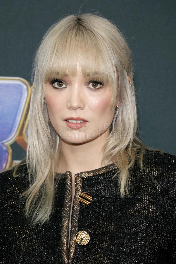 Pom Klementieff. At the World premiere of `Avengers: Endgame` held at the LA Convention Center in Los Angeles, USA on April 22, 2019 stock photography