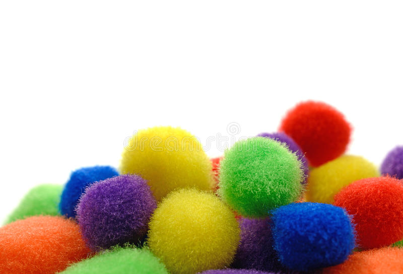 Pom Poms royalty free stock photo