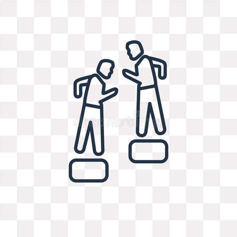 Pomagać mężczyzna Wspinać się wektorową ikonę odizolowywającą na przejrzystym backg ilustracji