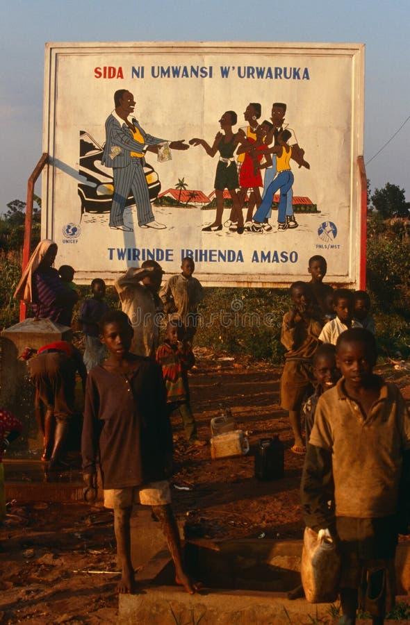 Pomaga kampanię informacyjną w Burundi. fotografia royalty free